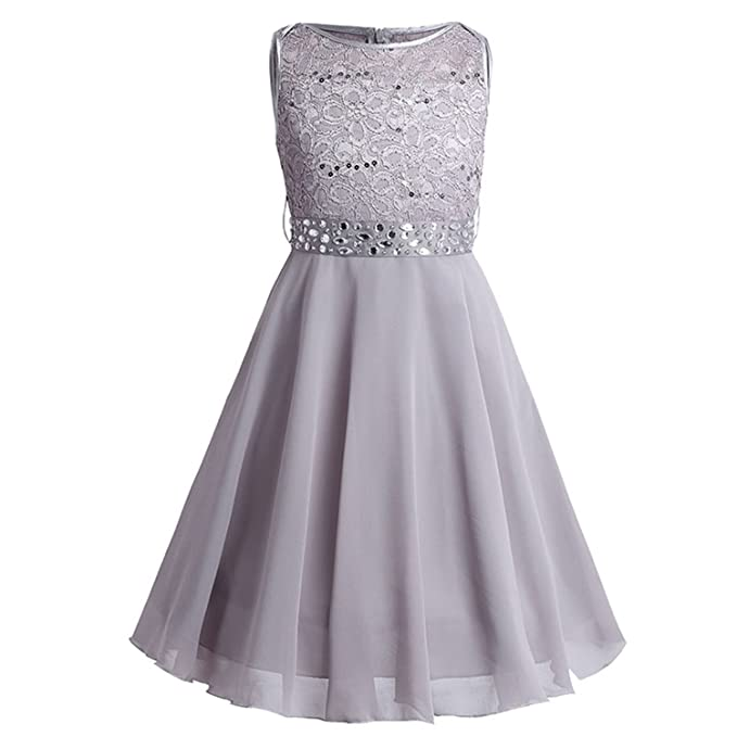 Girls Sequin Chiffon Dress