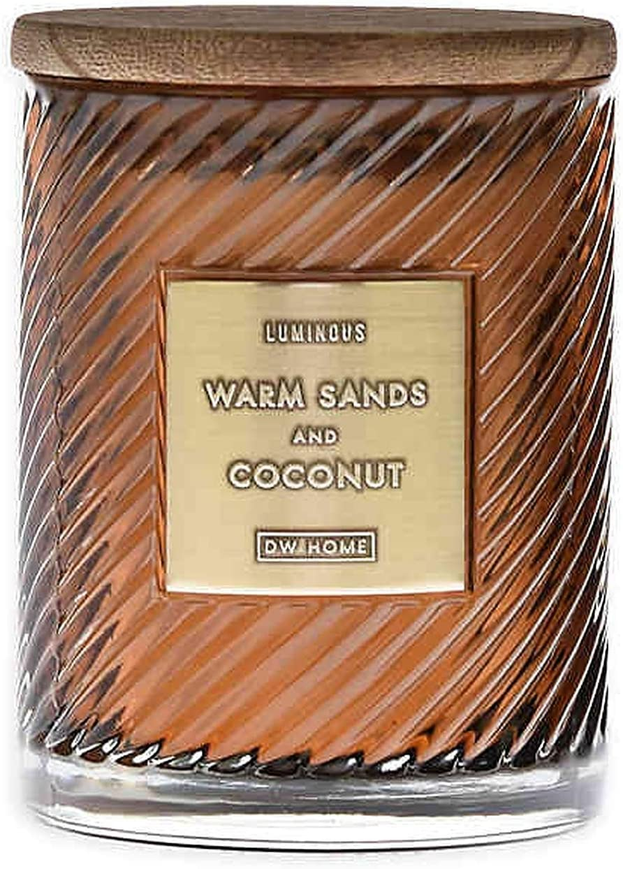DW Home Elegance Spiral Style (17 oz.) Candle Jar (Warm Sands Coconut)
