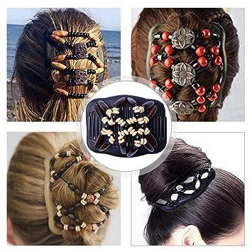 1*SET 2 In 1 Damen HAAR Kamm Frisur Haarspange Haarschmuck Haar Klammer