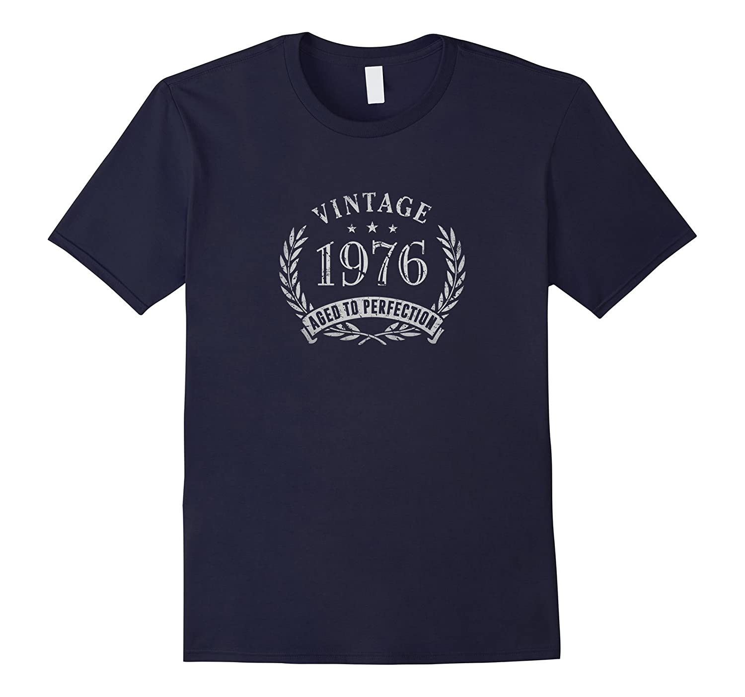 40th Birthday Gift - Vintage 1976 Aged to Perfection T-Shirt-BN