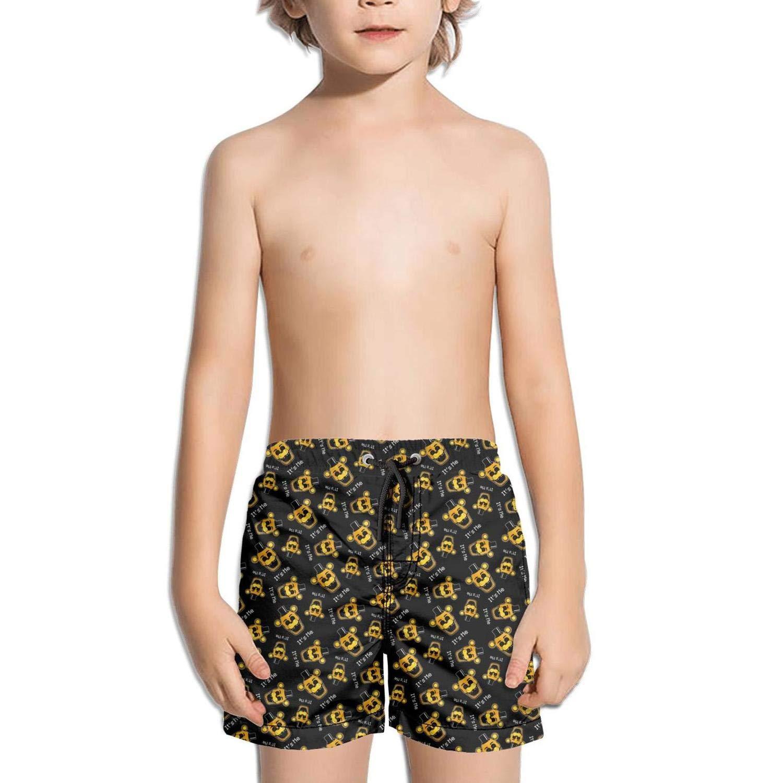 kattyy1 Kids Plain Solid Beach Swim Shorts
