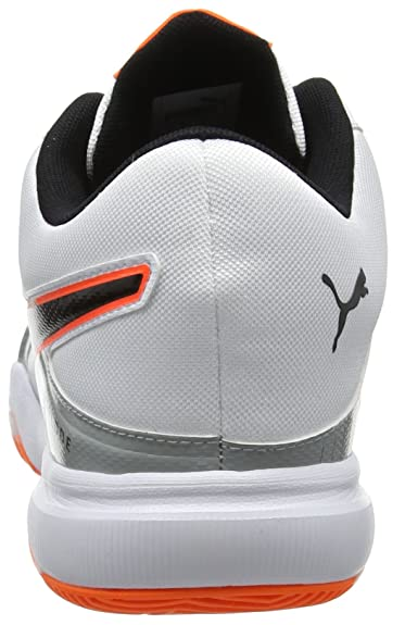 the best attitude 71e22 53796 Puma Men s Explode 3 Handball Shoes, White-Quarry-Shocking Orange 2 5.5 UK   Amazon.co.uk  Shoes   Bags