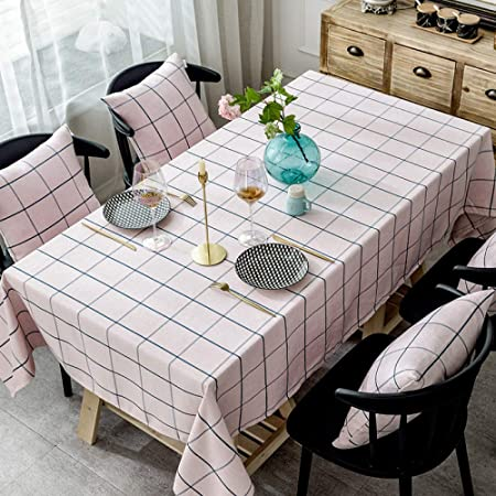 Myzixuan Simple moderno mantel algodón cáñamo mesa dulce pequeño ...