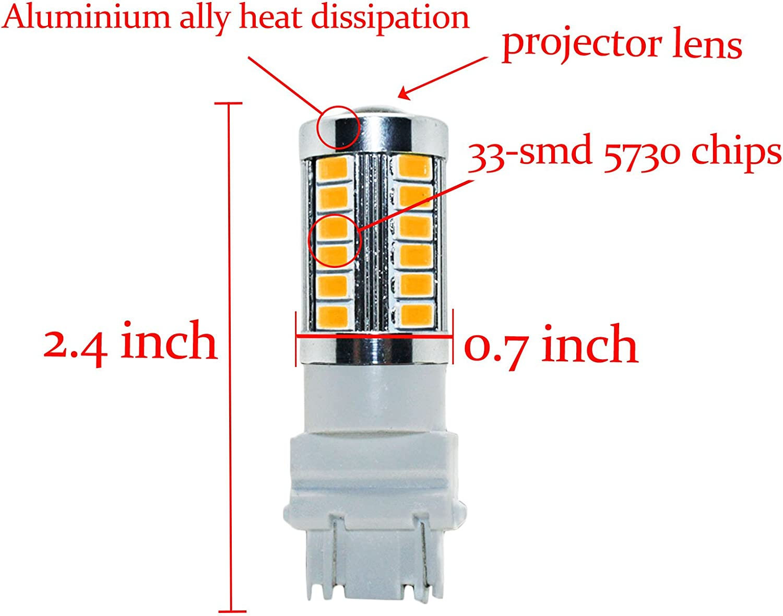 YaaGoo bright fog lights LED DRL bulbs,green,H16 5202 2504