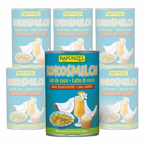 Leche de coco de cultivo biológico – 6 S R Pack de ahorro