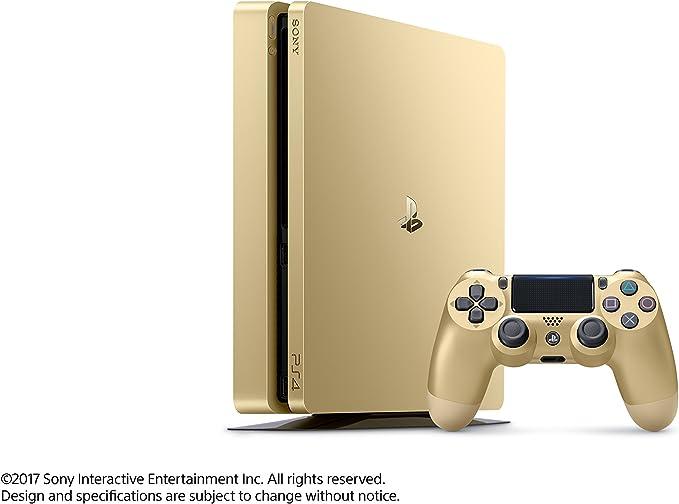 Sony PlayStation 4 delgada de oro de la consola 1 TB [continuado ...