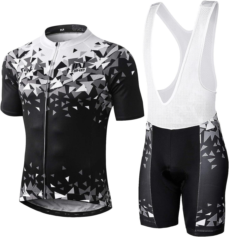 INBIKE Ropa Ciclismo Hombre Verano Trajes de Ciclismo Equipacion Bicicleta Maillot MTB+ Culote Bicicleta 3D Badana Gel