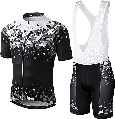 Bib Shorts Padded Summer Riding MTB Bicycle Kit Cycling Jersey Half Sleeves