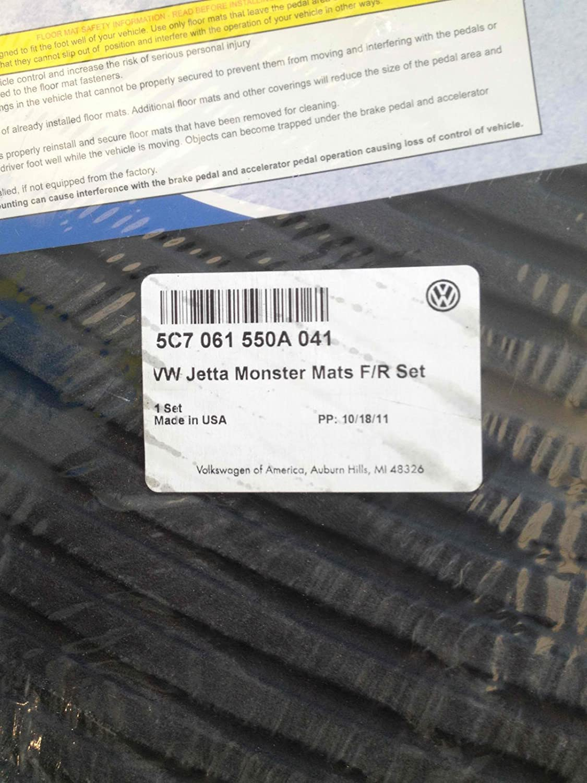 Rubber floor mats vw jetta - Amazon Com Oem Vw Jetta Monster All Weather Rubber Floor Mats Automotive
