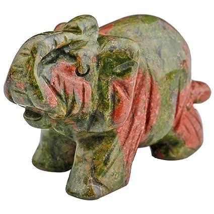 Amazon Com Mookaitedecor Unakite Crystal Elephant Sculpture Statue