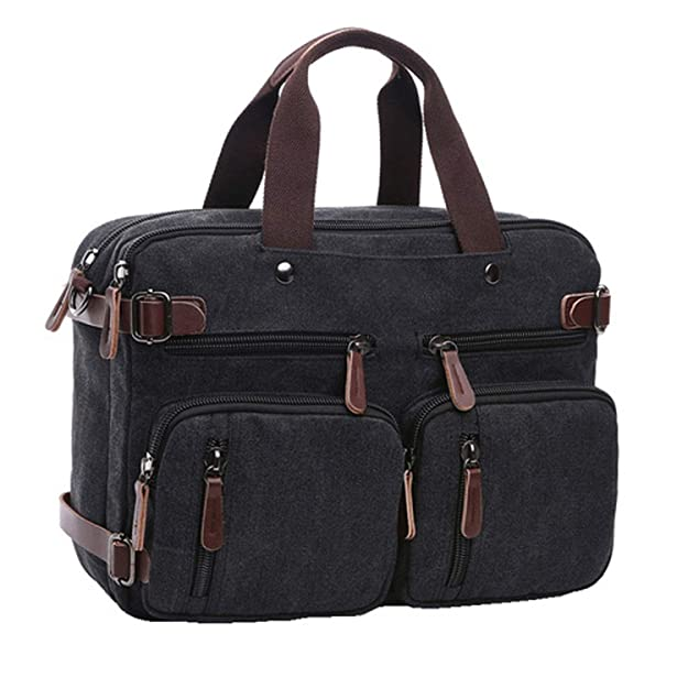 Amazon.com: Canvas Travel Backpack Men Shoulder Bag Mochila Hombre,Black,Large: Shoes