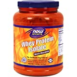 NOW Sports Whey Protein Isolate Dutch Chocolate, 1.8-Pound