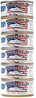 product image for American Tuna MSC Certified Sustainable Pole & Line Caught Albacore Tuna, 6oz Can No-Salt Added, Caught & Canned in America (6 Pack)