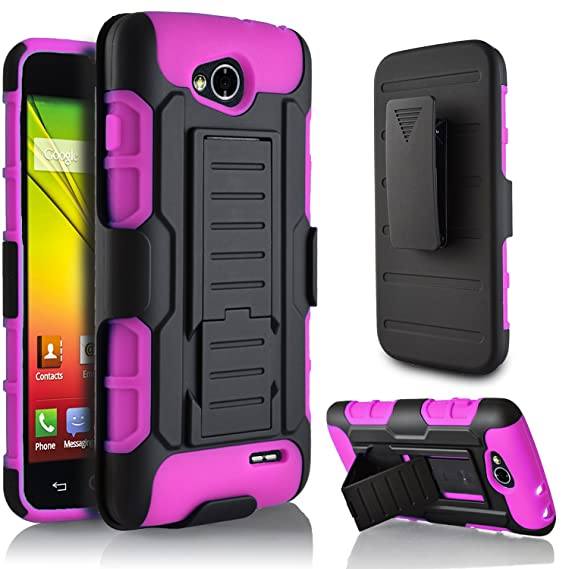 watch 8bf89 2c958 LG Optimus L90 Case, LG L90 Case, Starshop LG Optimus L90 [T-Mobile] Hybrid  Full Protection High Impact Dual Layer Holster Case with Kickstand and ...