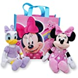 """Disney 10"""" Plush Minnie Mouse & Daisy Duck 2-Pack in Gift Bag"""