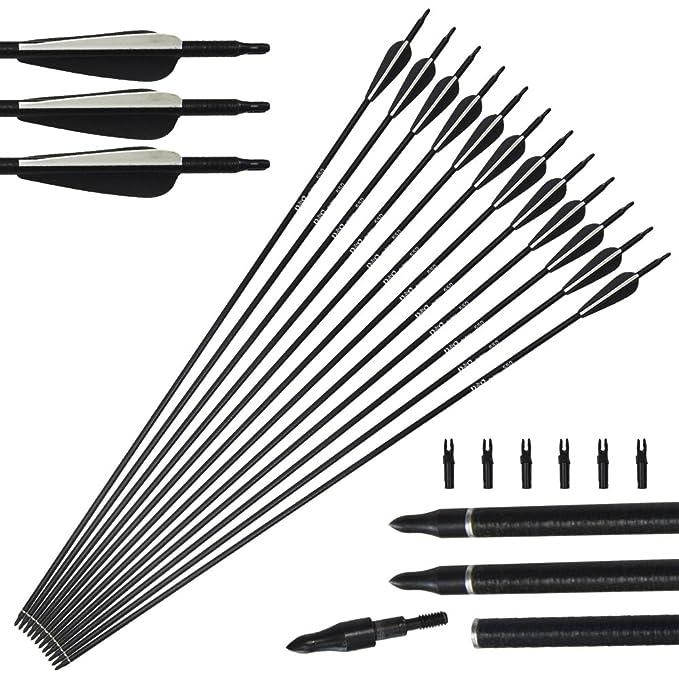 5 opinioni per 12 pacchetti arco di riciclaggio del complesso delle frecce di vetro tiro con
