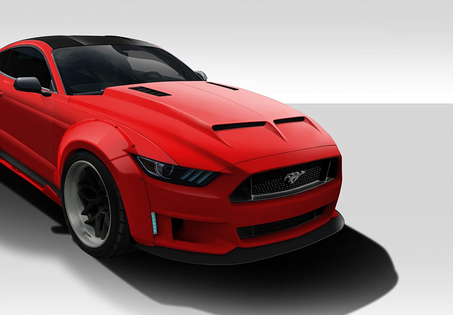 Amazon com duraflex replacement for 2015 2017 ford mustang gt500 hood 1 piece automotive