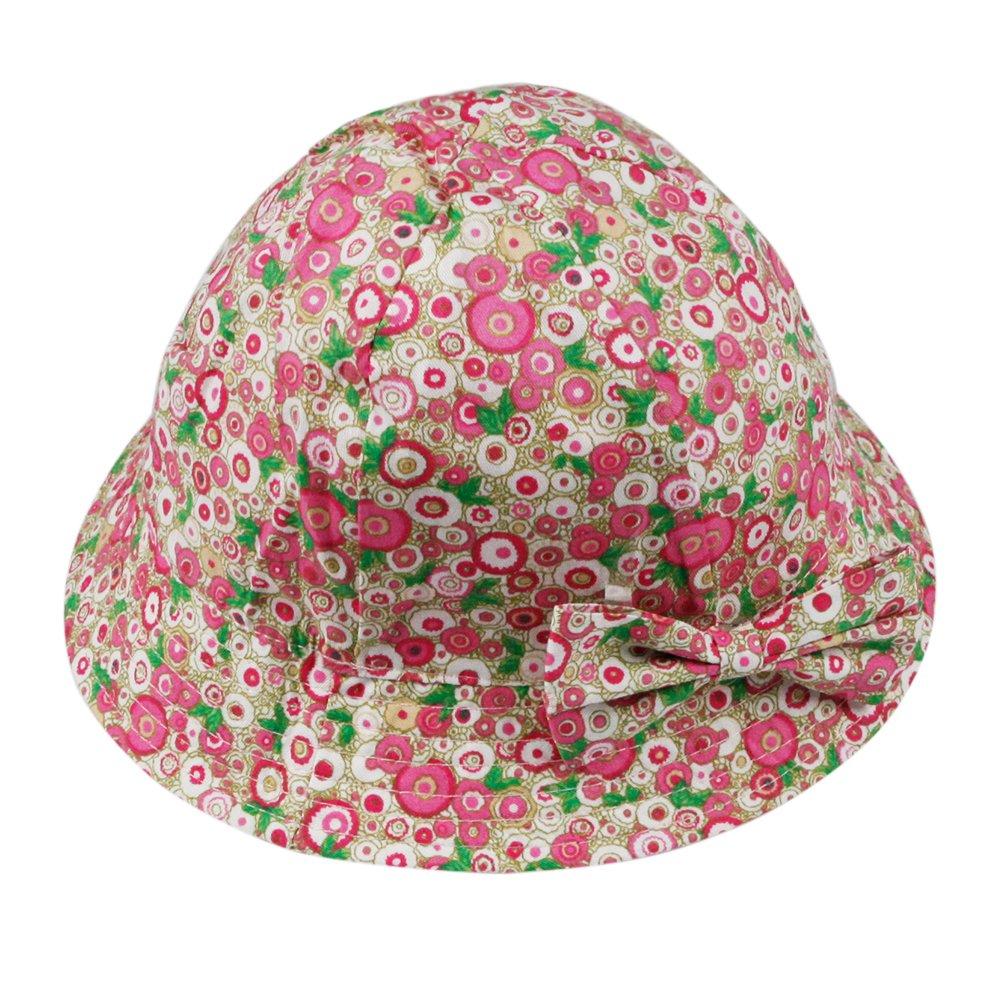4cd9be1c9494 CHIC-CHIC Chapeau de Soleil Bébé Fille Confortable Motif à Fleur Floral  Princesse Coupe-vent Bob ...
