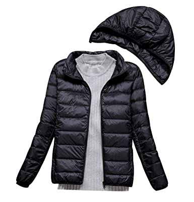 1b08e83b537 Lightweight Down Jacket Women with Movable Hood Womens Down Coats Women'S  Ultra Light Packable Down Jacket Down Filled Coat Parka Quilted Padded  Hooded ...