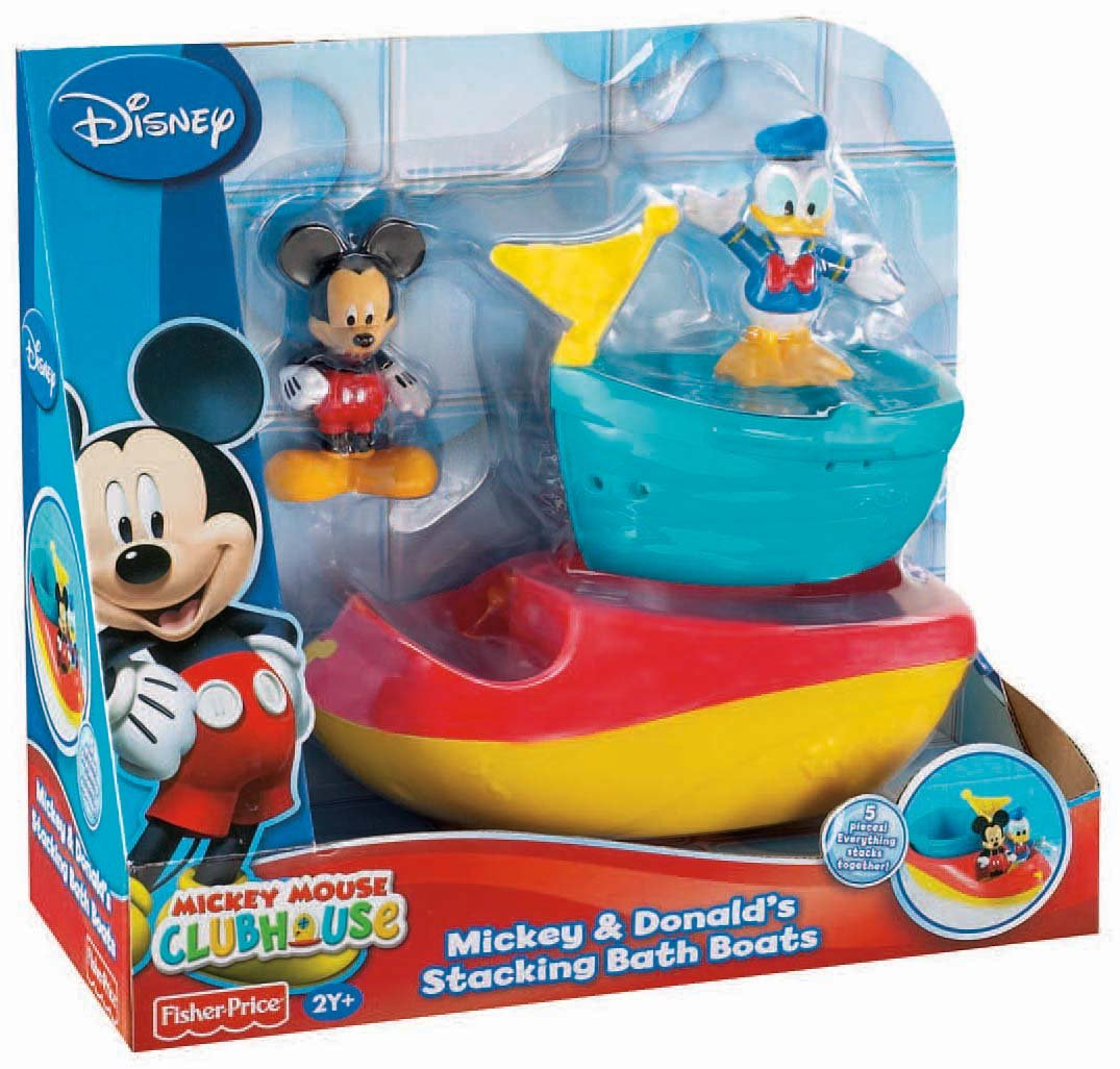 Amazon.com: Fisher-Price Disney\'s Mickey And Donald\'s Stacking Bath ...