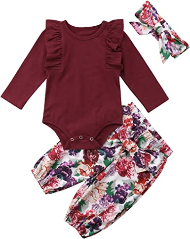Green New Deal Printed Baby Girls Long-Sleeved Bodysuit Jumpsuit Outfits