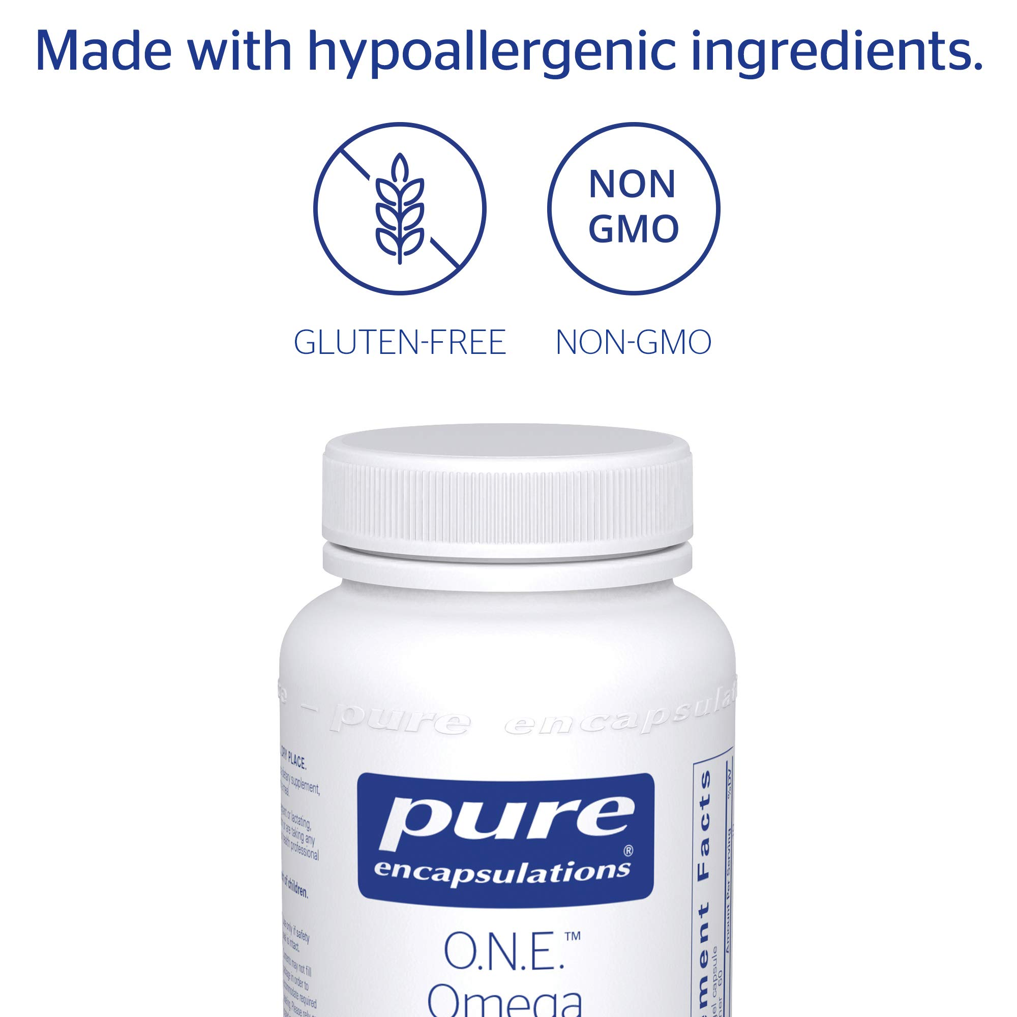 Pure Encapsulations - O.N.E. Omega - Fish Oil Capsules to Support Cardiovascular, Joint, Cognitive, and Skin Health* - 60 Softgel Capsules by Pure Encapsulations (Image #4)
