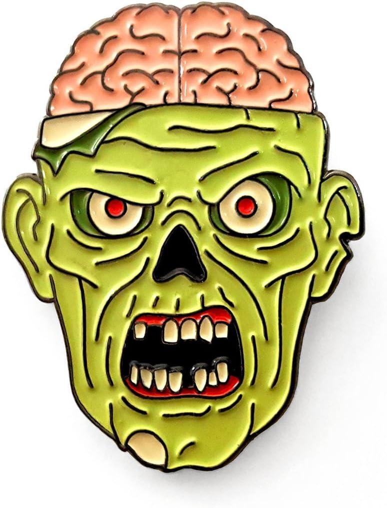 Pinsanity Zombie Head Horror Enamel Lapel Pin
