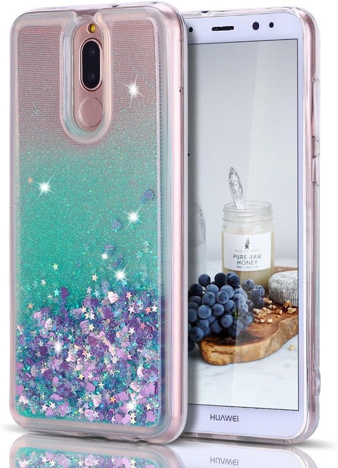 Caselover Funda Huawei Mate 10 Lite, 3D Bling Silicona TPU Arena Movediza Carcasa para Huawei Mate 10 Lite Glitter Líquido Brillar Lentejuelas Suave Transparente Cristal Protección Caso: Amazon.es: Electrónica