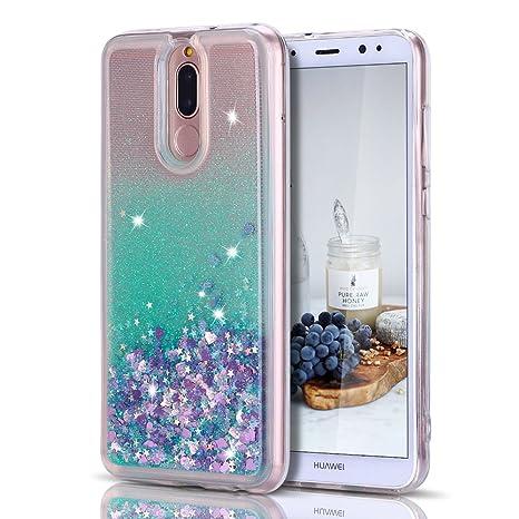huge discount 2f82e d45d8 CaseLover Cover Huawei Mate 10 Lite, 3D Glitter Liquido Sabbie Mobili  Trasparente Morbido TPU Silicone Custodia per Huawei Mate 10 Lite  Brillantini ...