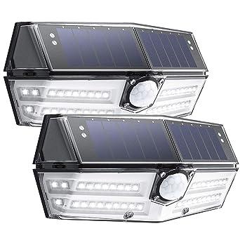 Mpow 2 Pack 40 Led Lampe Solaire Exterieur 3 Modes Intelligents