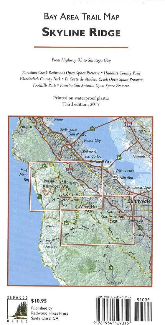 Skyline Ridge Bay Area Trail Map Redwood Hikes Press Redwood Hikes Press Redwood Hikes Press 9781934127315 Amazon Com Books We had a longer hike to see more of this very long 350 mile in the san francisco bay area. skyline ridge bay area trail map