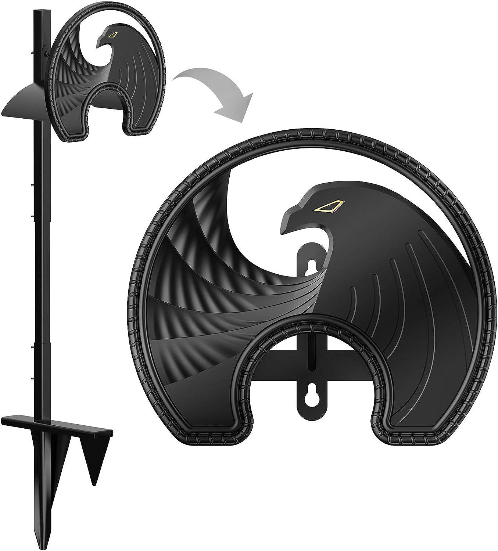 SEGOAL Garden Hose Holder, Detachable Free Standing Rustproof Water Hose Hanger, Die-Casting Aluminum Alloy Eagle Pattern, Fits 125 Ft of 5/8-Inch Hose for Outside Yard and Lawn