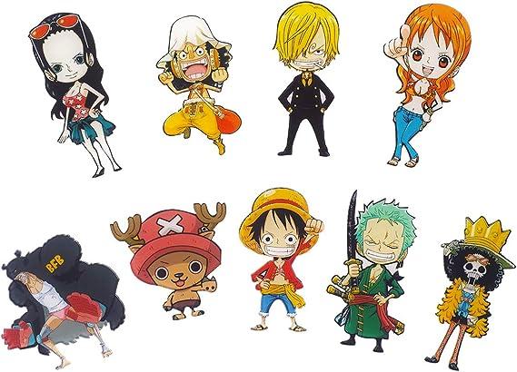 CoolChange 9 imanes con los Personajes Chibi de One Piece del Equipaje de los Sombreros de Paja: Amazon.es: Juguetes y juegos