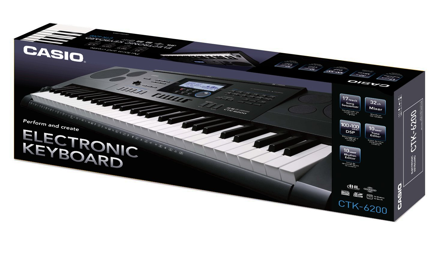 2b406376627 Casio CTK-6200 Full Size Piano Style Keyboard  Amazon.co.uk  Musical  Instruments