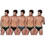 Lux Cozi GLO Men's Multicolored Cotton Briefs (Pack of 5)