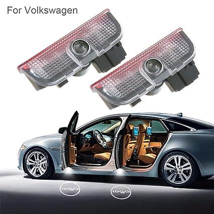 Luces LED para puerta de coche, 2 unidades, 3D, luz de bienvenida ...