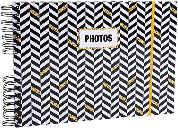 Album photos /à spirales 50 pages noires SoDeco 23x16cm
