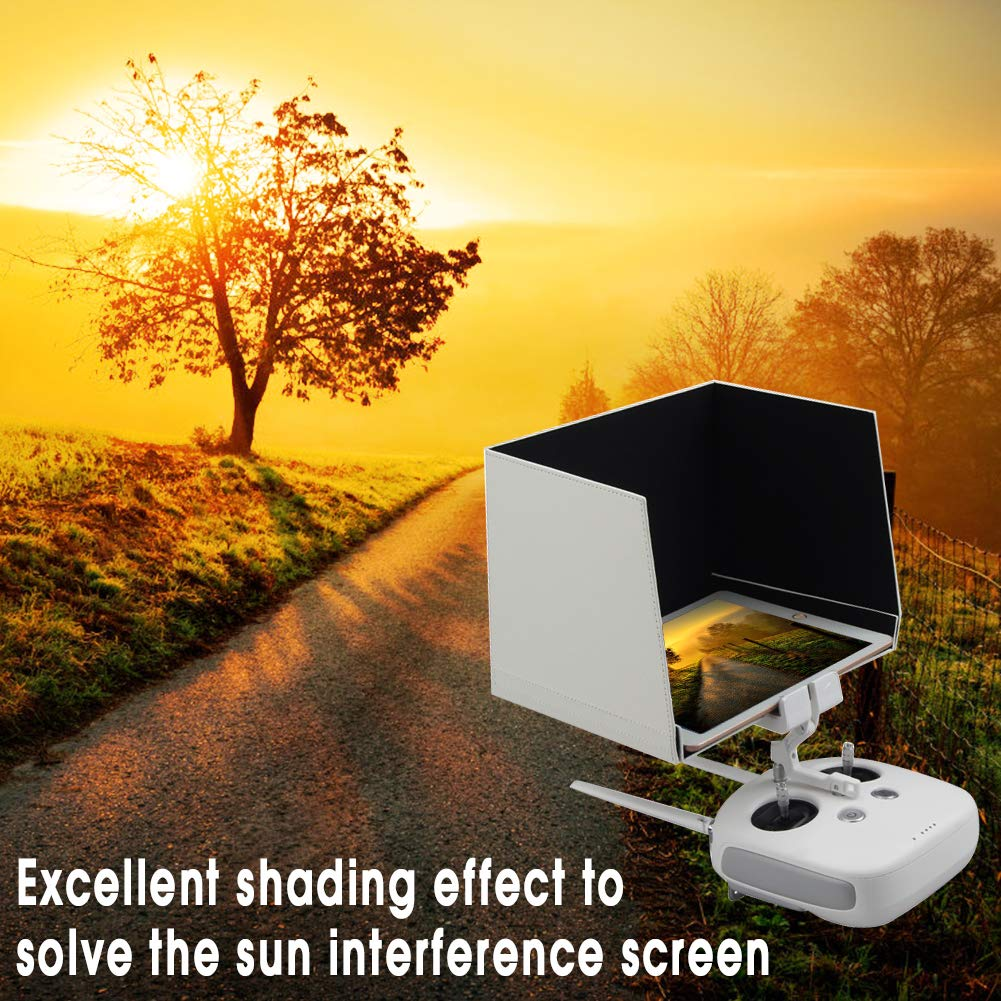 9.7 inch Remote Controller Monitor Hood Tablets Sunshade Cover Hood Fits for Tablets Ipad DJI Phantom 2//3//4