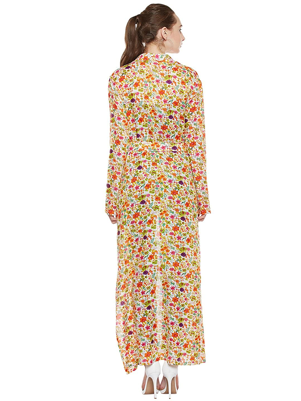 b9ddaf0dbc9 Zastraa MultiColoured Full Length Shrug with Collar  Amazon.in  Clothing    Accessories
