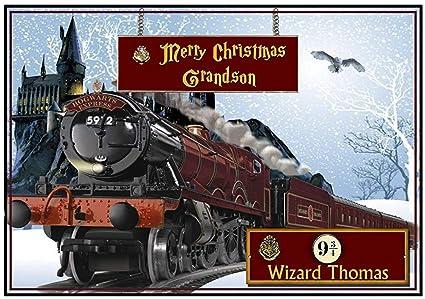 Tarjeta de Navidad expreso de Hogwarts: Amazon.es: Hogar