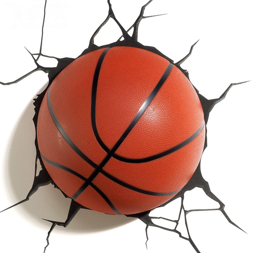 Wandleuchte 3D kreative Wandleuchte, moderne Basketball Modellierung Wohnzimmer Schlafzimmer LED dekorative Lichter, Boy Geschenk Nachttisch Nachtlicht Größe  44x38cm Dekorative leuchten beleuchtung