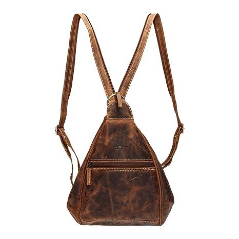 Greenburry Vintage 1717-25 Leder Rucksack Daypack Backpack