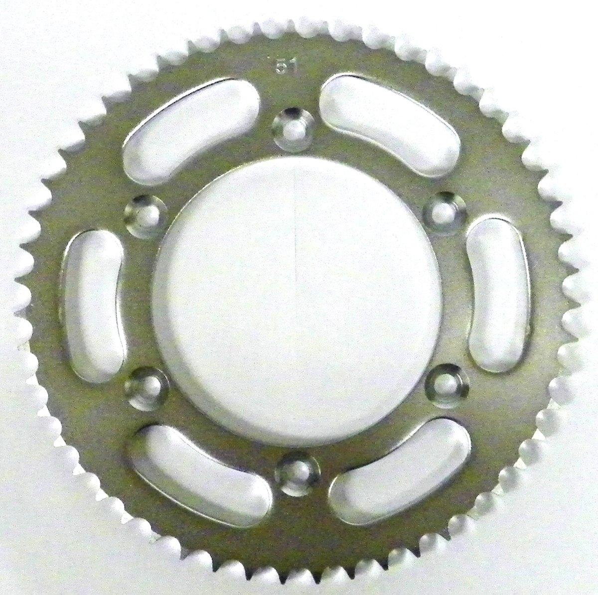 Kawasaki Steel Rear Sprocket Moto-X KLX 125 2003-2006/ KLX-L 125 2003-2006 51 Teeth RSS-025-51 OEM #: 42041-S001, 64511-08G00