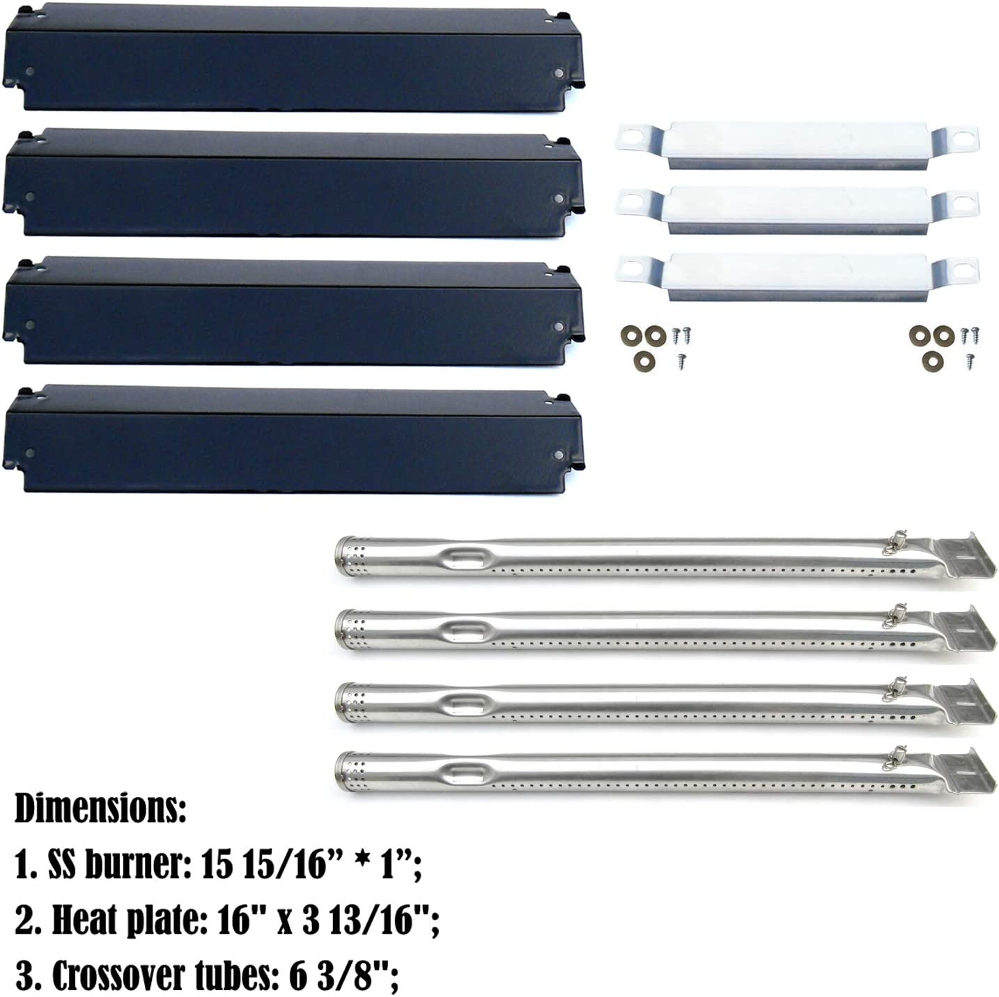 BBQ Gas Grill Burner Tube And Igniter Replacement Parts Kit For Brinkmann 5 Pack
