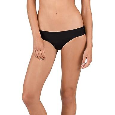 e2cbc484061 Volcom Women's Simply Solid Cheeky Swimsuit Bikini Bottom, Black, Extra  Small
