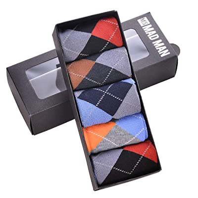 Mad Style Men's Brite Argyle Boxed Socks at Men's Clothing store