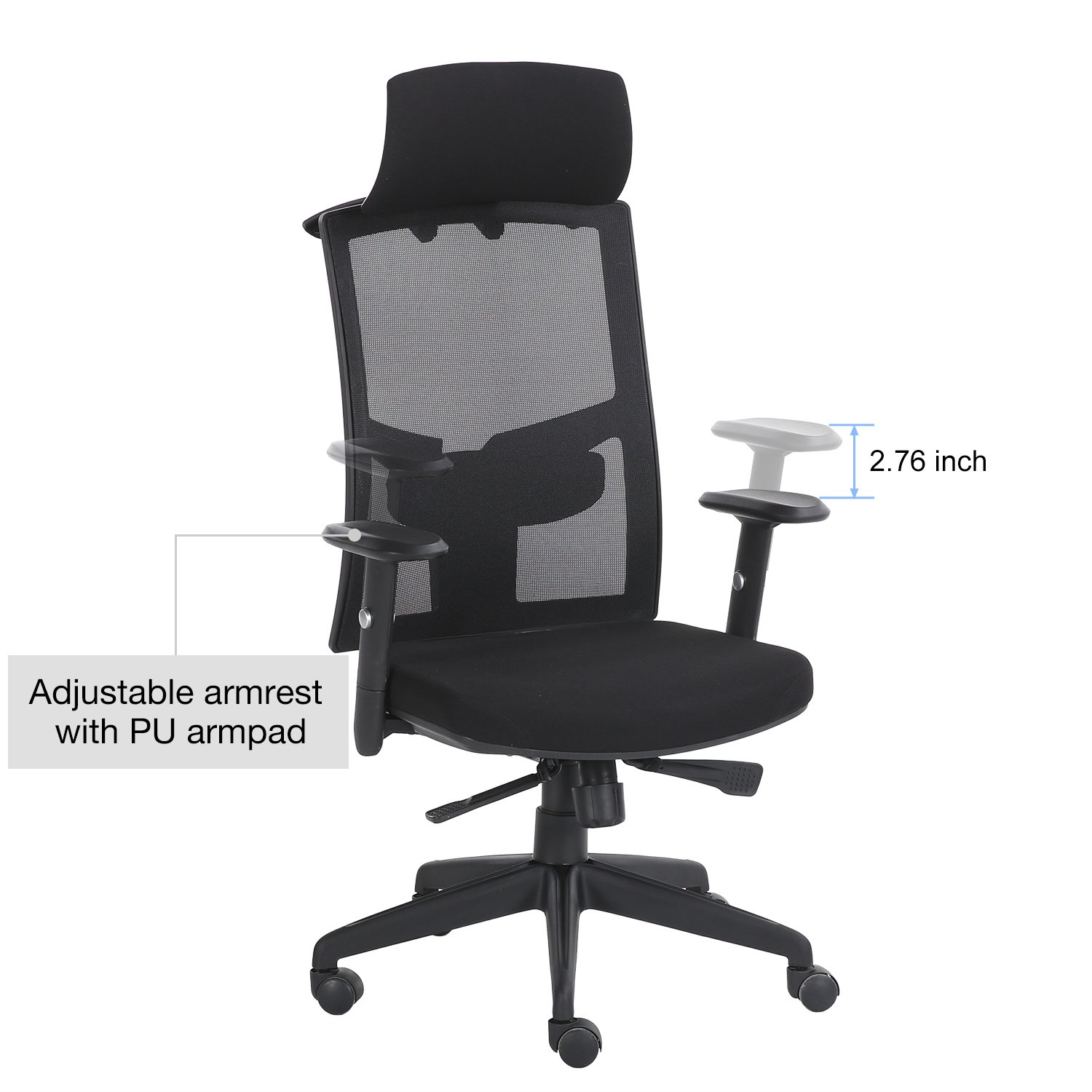 Amazoncom Lyon Bifma Certified Mesh Office Chair With Built In Coat