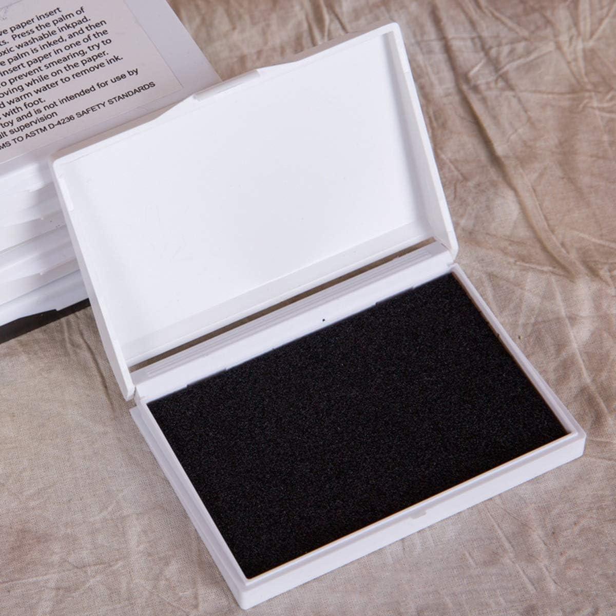 Color : Black Nosii Handabdruck Foodprint Inkless Neugeborenes Baby M/ädchen Jungen Handabdruck-Fu/ßabdruck-Fotorahmen-Kit ungiftig Clean Touch-Stempelkissen