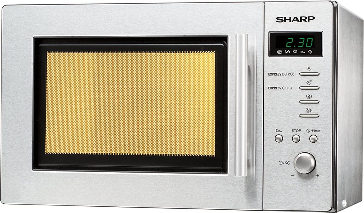 Sharp R-261STW - Microondas (10A, 46 cm, 38 cm, 27,5 cm) Acero ...