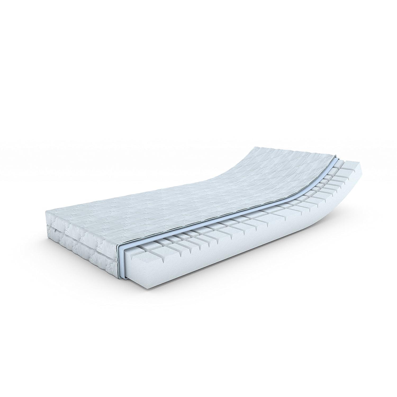 MSS® Aqua VitalFoam® Würfel Matratze - H3 - 180x140 cm   7 Zonen Würfel Kaltschaum 3D-Würfelschnitt versteppten Klimafaserbezug waschbar bis 60 Grad   H3